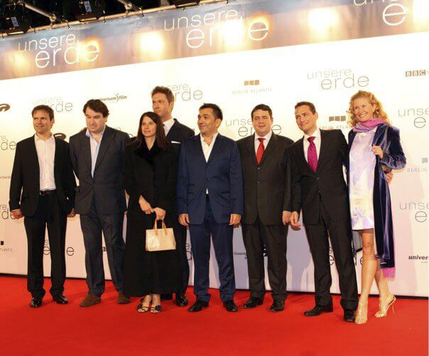 At the Premier of Planet Earth in Berlin with Foreign Secretary Sigmar Gabriel and our Partners from the BBC