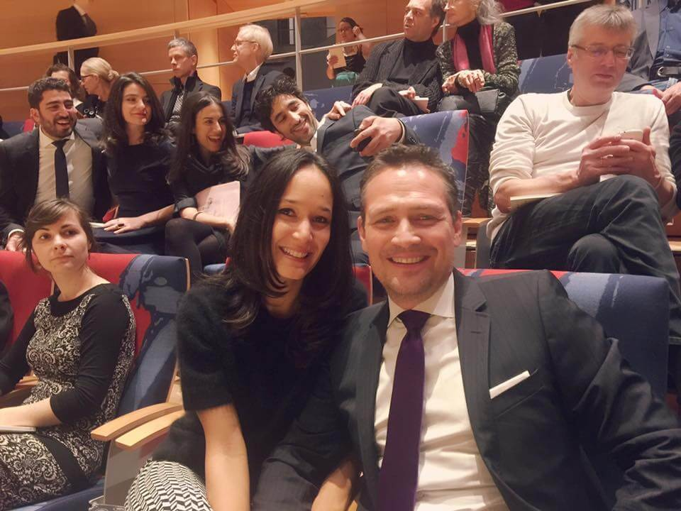 Together with my Life partner Loes at the the Opening of the Pierre Boulez concert Hall Orchestra