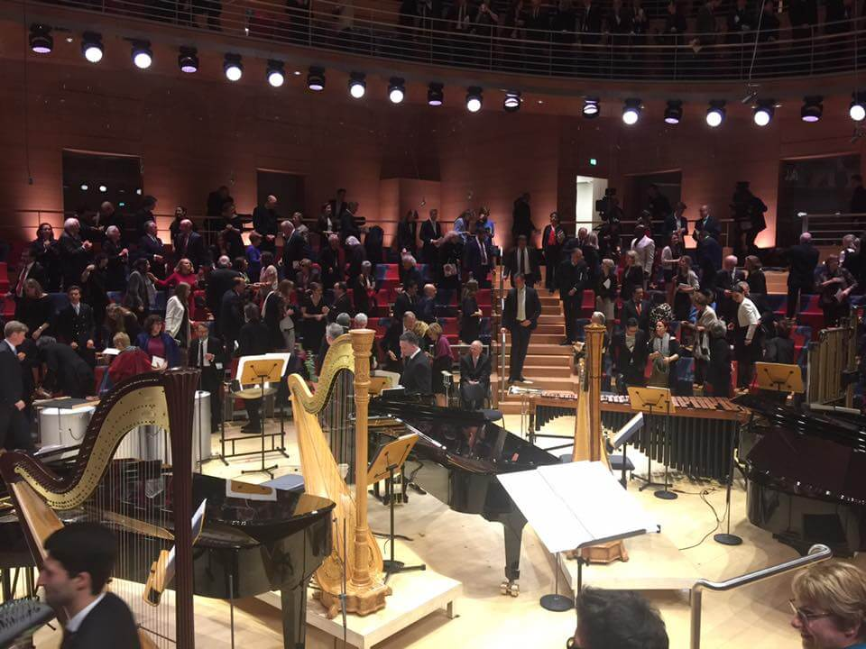 The opening of the Pierre Boulez concert hall