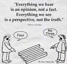 Everything we hear is not a fact, its an opinion