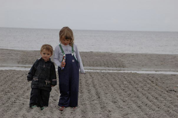 With the kids at the Baltic Sea 2005